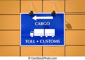 Toll customs sign - Norwegian sign