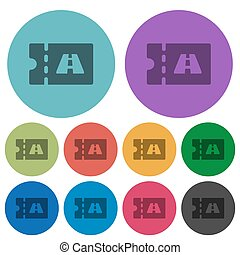 Toll discount coupon color darker flat icons - Toll discount...