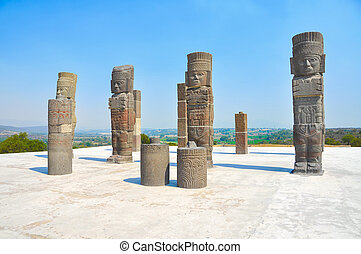 Toltec Warriors, Pyramid of Quetzalcoatl in Mexico - Toltec...