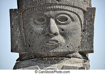 tolteca, tula, szobor, mexikó