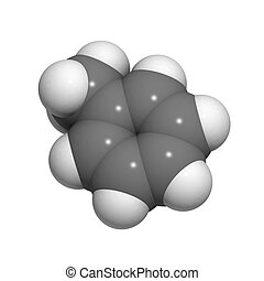Toluene molecule (chemical structure)