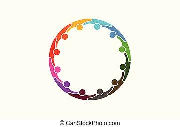 tolv, netværk, folk, medier, -, personer, sociale, logo