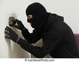 tolvaj, betörő, -ban, épület, kód, törő