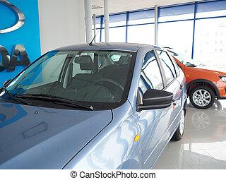 """TOLYATTI RUSSIA - MART 6 2016: Car centre """"Lada""""."""