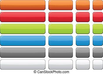 tom, färg, buttons.