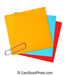 tom, färgrik, papper