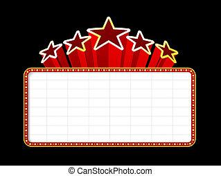 tom, film, teater, eller, kasino, marquee