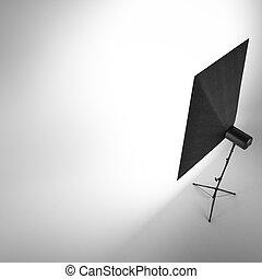tom, fotografi ateljé, med, vit fond