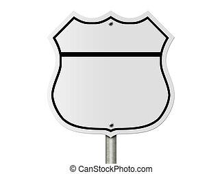 tom, interstate, vägmärke