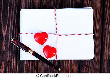 tom, kort, copyspace, valentinbrev