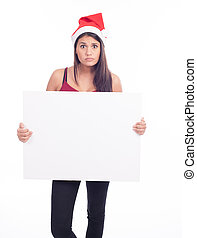 tom, kvinna, jul, underteckna