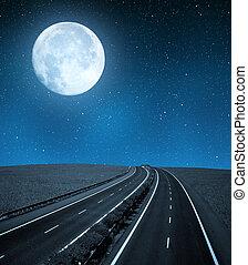 tom, motorväg