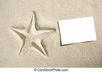tom, papper, strand sandpappra, sjöstjärna, halvstop, sommar