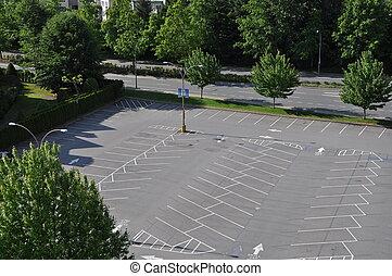 tom, parkeringsplats