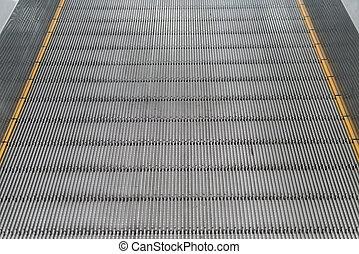 tom, rulltrappa, trappa