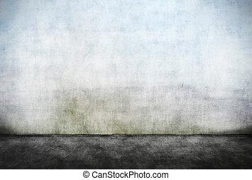 tom, smutsa ner, vägg, abstrakt
