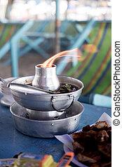 Tom Yam mixed sea food in hot pot