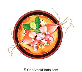 Tom Yum Goong or Thai Spicy and Sour Soup