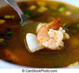 tom yum kung - thai food, tom yum kung