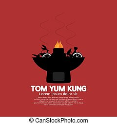 Tom Yum Kung Vector Illustration