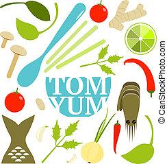 Tom Yum Soup Food Set