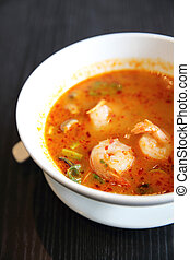 Tom Yum soup Thai traditional spicy prawn soup