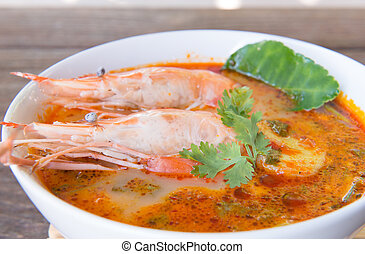 food - tom yum soup / thailand food /hot and sour soup