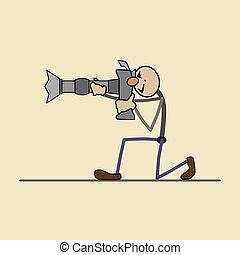 toma, g, fotógrafo, profesional