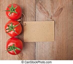 tomaat, groente, prijs label