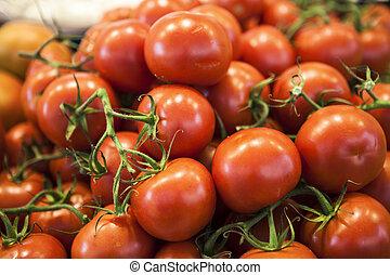 tomaat, verse grostes, markt