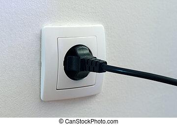 tomada, plugged