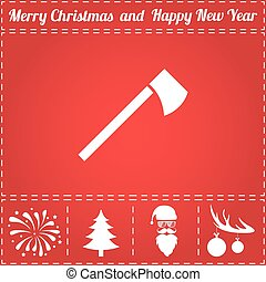Tomahawk Icon Vector. And bonus symbol for New Year - Santa...