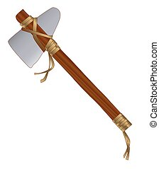 Tomahawk - North American Indian style tomahawk axe over a...