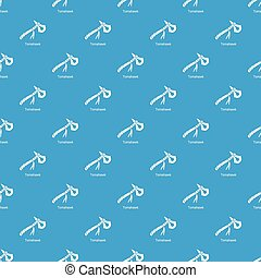 Tomahawk pattern vector seamless blue repeat for any use