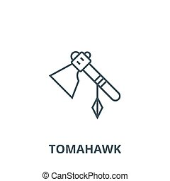 Tomahawk vector line icon, linear concept, outline sign,...