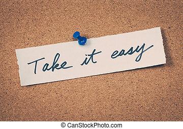 tomar, aquilo, fácil