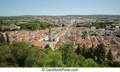 Tomar Cityscape aerial - Aerial view of Tomar cityscape and...