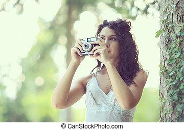 tomar las fotos