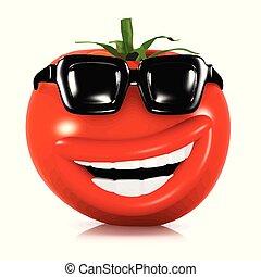 tomate, 3d, frais