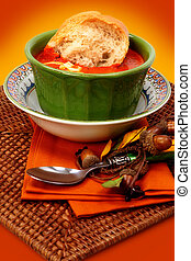 tomate, baguette, estilo, bread, alimento, comodidad, ...