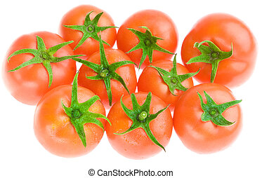 tomate, blanc, isolé