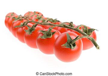 tomate, cereja, isolado