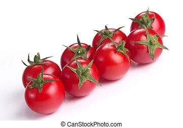 tomate, cerise, huit