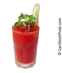 tomate, closeup, cocktail