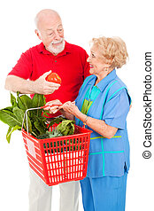 tomate, compradores, sênior, -, dela