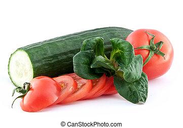 tomate, concombre