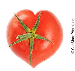 tomate, coração amoldou