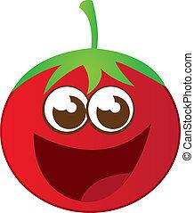 Tomate sourire dessin anim happy rouges - Tomate dessin ...
