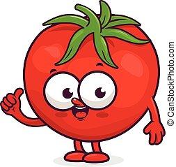 Tomate sourire dessin anim happy rouges clipart vectoriel rechercher illustration - Tomate dessin ...