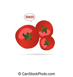 tomate, dessin animé, illustration